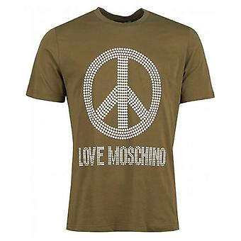 Moschino Stud Fred Logo Crew Hals T-shirt