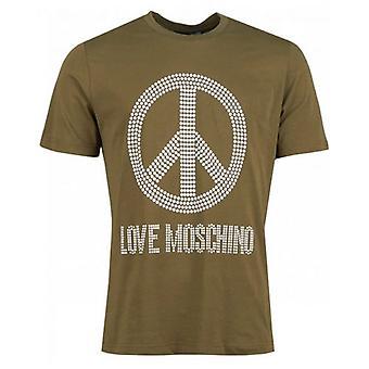 Moschino Stud Peace Logo Crew Neck T-paita