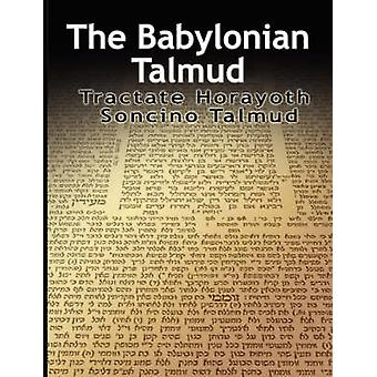 The Babylonian Talmud Tractate Horayoth  Rulings Soncino by Epstein & Isidore