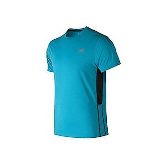 Menns kortermet t-skjorte ny balanse akselerere blå / m