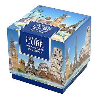 World Landmarks Jigsaw Puzzle 100 Piece Puzzle Cube