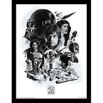 Star Wars 40th Anniversary Montage Framed Plate 30*40cm