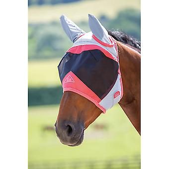 Shires Air Motion Fly Mask With Ears - Coral