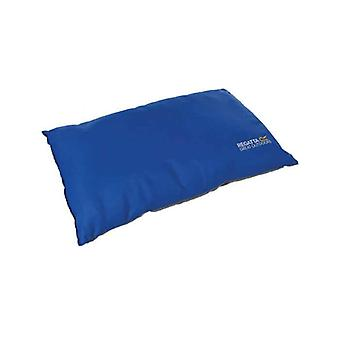 regatta soft-touch camping pillow oxford blue for caravans and at-home use