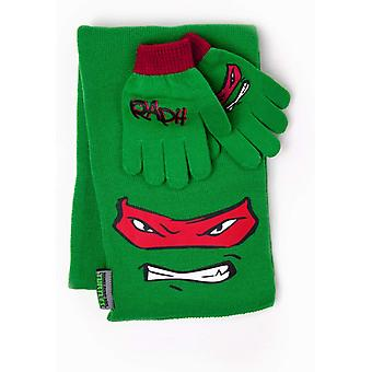 Official Turtles Raphael Scarf and Gloves