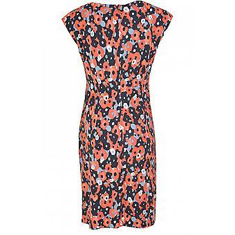 Sandwich Clothing Coral Bold Print Jersey Dress