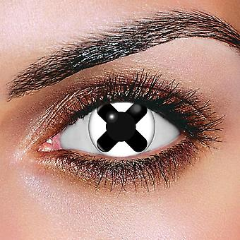 Black Cross Contact Lenses (Pair)