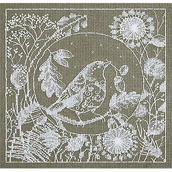 Panna Cross Stitch Kit : White Lace Bird