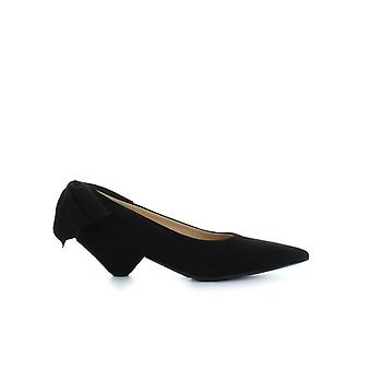 ETTORE LAMI BLACK SUEDE PUMP WITH BOW