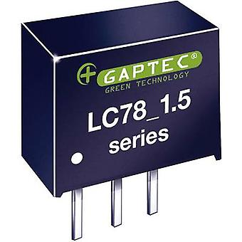 Gaptec LC78_12-1.5 DC/DC converter (print) 12 V DC 12 V DC 1500 mA 18 W Nr. van de uitgangen: 1 x