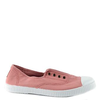 Victoria Shoes Dora Nude Canvas Plimsolls