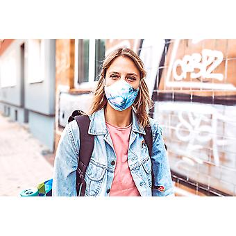 Non-Medical Face Mask | 3. Blue Ocean - M ( fits most teenagers, adults 165-180 cm )