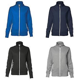 ID Womens/damer Full Zip regelbunden passande kontrast Sport jacka