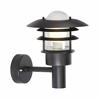 1 Light Outdoor Wall Lantern Light Black Ip44