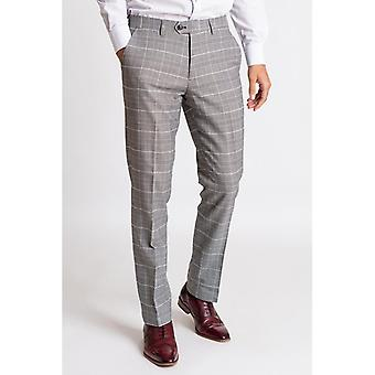 Marc Darcy ROSS Check Trousers - Grey