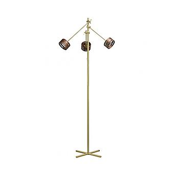 Megapolis Golden Floor Lamp 3 Bulbs 152 Cm