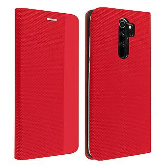 Protective Cover Xiaomi Redmi Note 8 Pro Card Holder Interior Soft-touch red