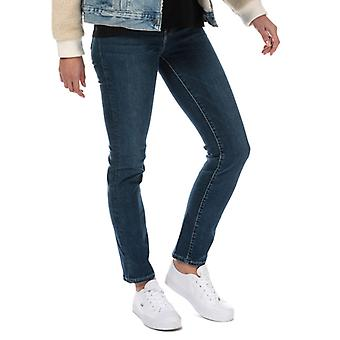 Women's Levis 724 High Rise Straight Level Out Jeans in Blauw