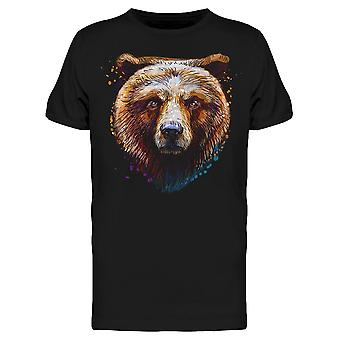 Grizzly Head Front Side Tee Men's -Image by Shutterstock