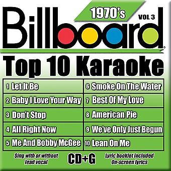 Billboard Top 10 Karaoke - Vol. 3-70's-Billboard Top 10 Karaoke [CD] USA import