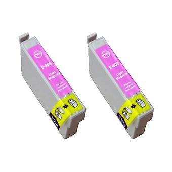 RudyTwos 2 x ersättare för Epson Hummingbird bläck enhet LightMagenta kompatibel med Stylus Photo P50, PX650, PX660, PX700W, PX710W, PX720WD, PX800FW, PX810FW, PX820FWD, PX830FWD, R265, R285, R360, RX5