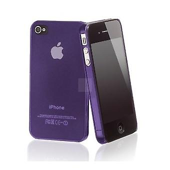 Iphone 4/4s Hard Plastic Cover Back Case - Fioletowy