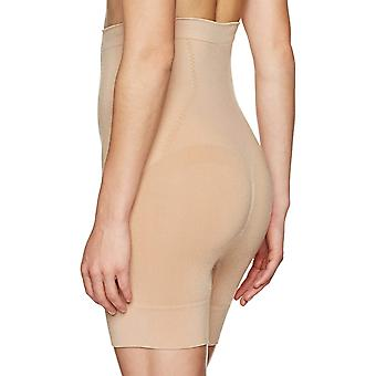 Arabella Women's Seamless Waist Shaping Thigh Control Shapewear, Nude, Large
