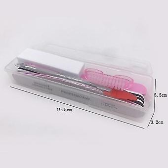 Nail Art Sand Files Buffer Sponge Block Brush Cuticle Pusher Gel Polish Manicure