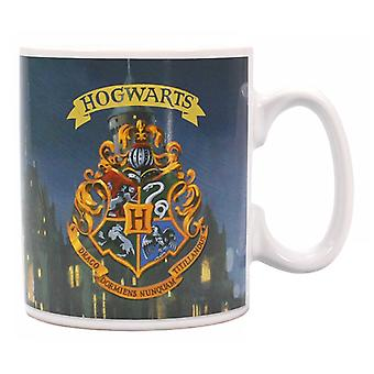 Harry Potter Mug Heat Changing  Hogwarts School Crest new Official Boxed