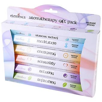 Elements Aromatherapy Incense Gift Pack (Box Of 6 Packs)