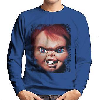 Chucky Face närbild män ' s Sweatshirt