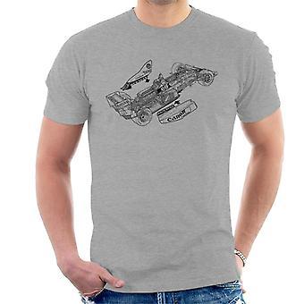 Motorsport Bilder Williams FW12C 1989 Outline Män & apos, s T-shirt