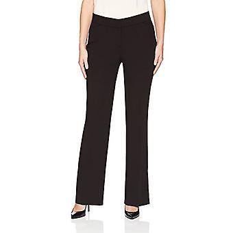 Brand - Lark & Ro Women's Bootcut Trouser Pant: Curvy Fit, Black, 6
