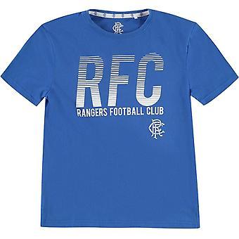 Unbranded Rangers Lined T-Shirt Junior Boys