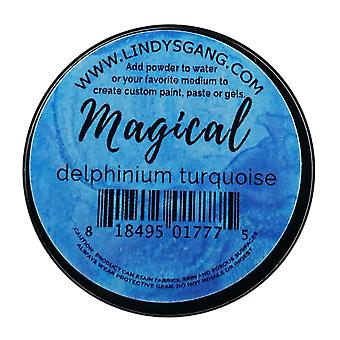 Lindy's Stamp Gang Delphinium Turquoise Magical