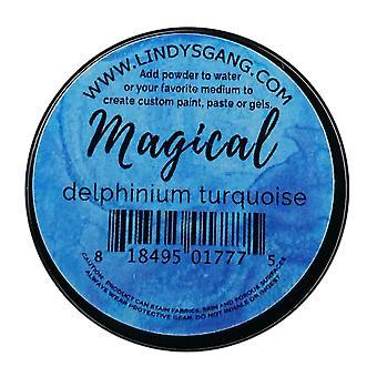 Lindy's Frimærkebande Delphinium Turkis Magisk