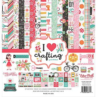 Echo Park I Heart Crafting 12x12 Inch Collection Kit