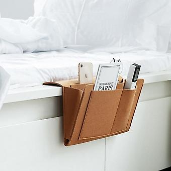 Bedside Felt Storage Bag With Pockets - Bed Sofa Desk Hanging Organizer