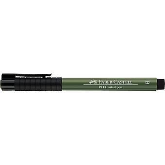 فابر كاستيل الحبر الهندي الفنان القلم فرشاة 174 الكروم الأخضر مبهمة