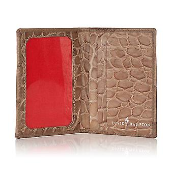 Serengeti Croc Leather Travel Card Holder