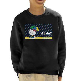 Hallo Kitty Regen wieder Kid's Sweatshirt