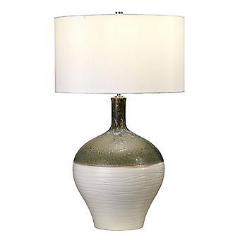 1 Lampe de table légère Or, Vert, E27
