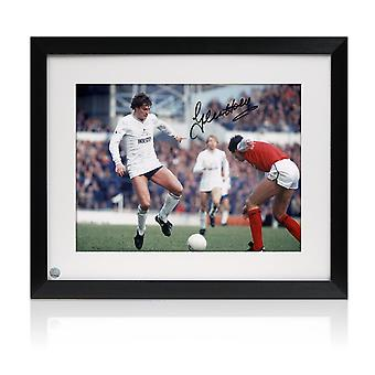 Glenn Hoddle Signerte Tottenham Hotspur Foto: North London Derby. Innrammet