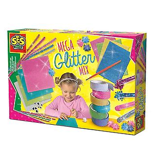 SES Creative Children's Mega Glitter Artisanat Set Mixed Colour (14109)