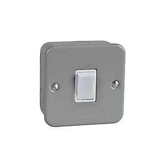 Schneider Electric GMC1012 Metal Clad Light Switch 1 Gang 2 Way