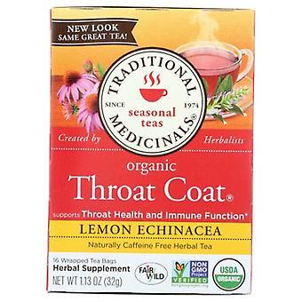 Traditional Medicinals Teas Organic Throat Coat Lemon Echinacea Tea, 16 Bags