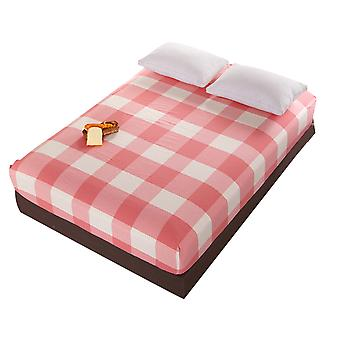 Homemiyn Checkered Simple Comfortable Sheets Thicken Printed Washed Cotton Sheets