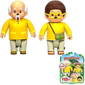 2-Pack Monchhichi Feuilly & Sylvus Figures With Bendable Joints