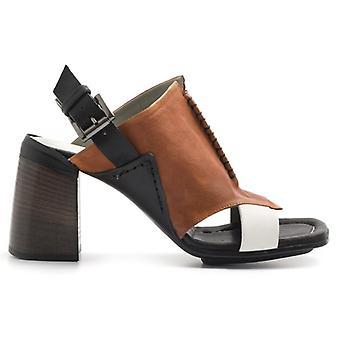 Mehrfarbiges Leder weiche Sandale mit High Heel