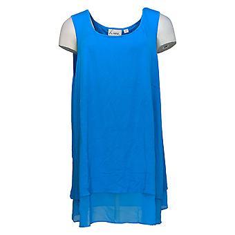 Linea Por Louis Dell'Olio Women's Top Sleeveless Swing Blue A306341